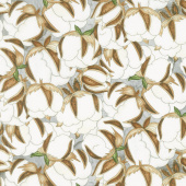 Love 4 Cotton - Large Cotton Balls Gray Yardage