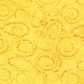 Tonga Batiks - Vivid Dotty Spiral Canary Yardage