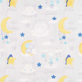 All Our Stars - Large Allover Gray Yardage