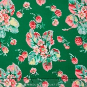 Fruta y Flor - Wild Raspberries Meadow Yardage