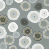 Day in Paris - Blooming Graphite Metallic Yardage