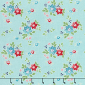 Seaside - Floral Aqua Yardage