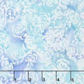 Blossom Batiks - Splash Rosie Posie Aquamarine Yardage