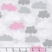One Sheep, Two Sheep - Clouds Allover Gray Yardage