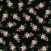 Bliss - Floral Black Yardage