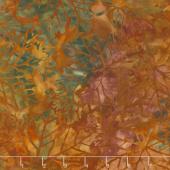 Artisan Batiks - Cornucopia 9 Leaves Redwood Yardage
