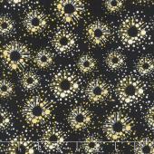 Sunny Days - Dot Bursts Black Yardage
