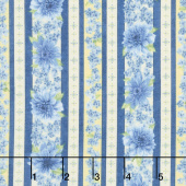 Gardenside Path - Stripes Sky Yardage