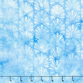 Buttercup Batiks - Vertical Plumes Sky Yardage