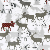 "Cuddle Prints - Forest Park Scarlet 60"" Minky Yardage"