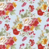 Farmhouse Floral - Main Blue Yardage
