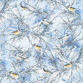 Winter Hike - Winter Chickadees Blue Yardage