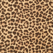 On the Wild Side - Leopard Skin Brown Yardage
