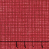 The Little Things - Dotted Plaid Red Yardage
