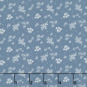 Faded Memories - Faded Bouquet Blue Yardage