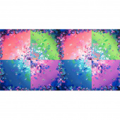Bright Side - Floral Square Multi Digitally Printed Panel