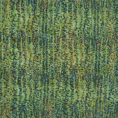 Artisan Batiks - Twilight Snowfall Pine Trees Evergreen Metallic Yardage