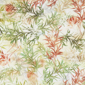 Peony Dance - Bamboo Grass Multi Digitally Printed Yardage