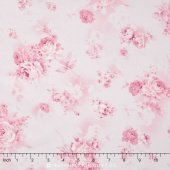 Margeaux - Grey Colorstory Tossed Roses Pink Yardage