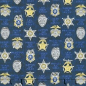 Protect & Serve - Shields Navy Yardage