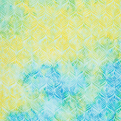 Lemon Grass Batiks - Feathers Lemon Lime Yardage