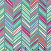 Painted Garden - Colorweave Turquoise Yardage