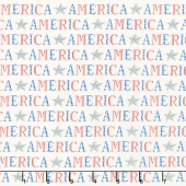 America the Beautiful - American Type Distressed White Yardage
