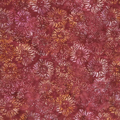 Artisan Batiks - Inspired by Nature Sunflowers Burgundy Yardage