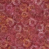 Artisan Batiks - Inspired by Nature Sunflowers Burgundy Yardage