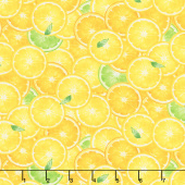 Splash of Lemon - Packed Lemon Slices Yellow Yardage