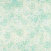 Make a Wish - Hydrangea Dandelion Toss Wasabi Multi Digitally Printed Yardage