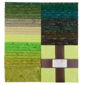 """Artisan Batiks Solids - Prisma Dyes Rainforest Batiks 10"""" Squares"""