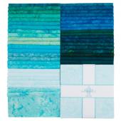 "Lava Batik Solids - Lagoon 10"" Squares"