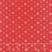 Anna - Buttons Raspberry Yardage