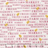 Sunflower Market - Market Words Cream Yardage