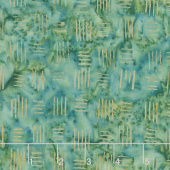 Splendor Batiks - Basketweave Emerald Yardage