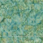 Splendor Batiks - Basketweave Emerald Yardage