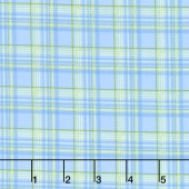 Garden Gate - Plaid Blue Yardage