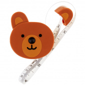 Brown Bear Retractable Measuring Tape