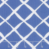 Feed Sacks: Red Rover - Trellis True Blue Yardage