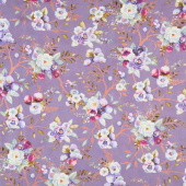 Lilac & Sage - Vines Wisteria Copper Pearl Metallic Yardage