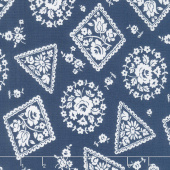 Majestic - Stamp Blue Yardage
