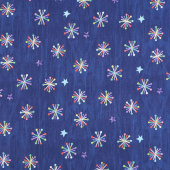 The Very Hungry Caterpillar - Bright Asterisk Dark Blue Yardage