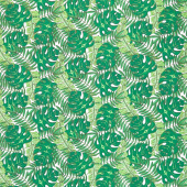 Tropical Flair - Leaf Toss White Yardage