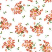 Prose - Daisy Bouquets Ultra White Yardage