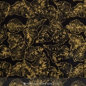 Tonga Batiks - Chai Marine Leaves Black Yardage