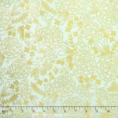 On Trend - Trend Floral Mint Sparkle Yardage