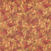 Bounty of the Season - Leaves Flame Metallic Yardage