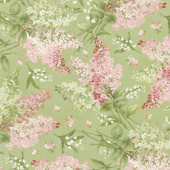 Sensibility - Tossed Floral Green Yardage