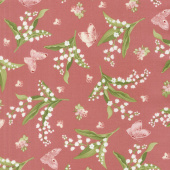 Sensibility - Lilies & Butterflies Pink Yardage